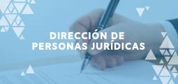 DIRECCIÓN DE PERSONAS JURÍDICAS